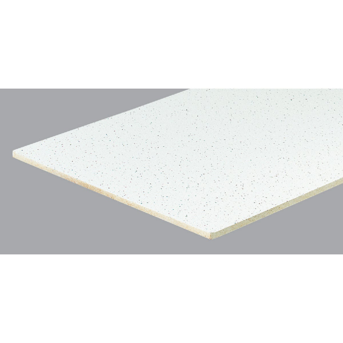 Radar Fissured 2 Ft. x 4 Ft. White Mineral Fiber Square Edge Suspended Ceiling Tile (8-Count) Image 1