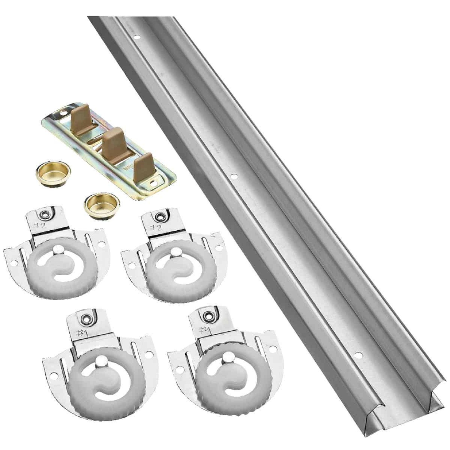 National 96 In. Bypass Door Hardware Image 1