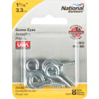 National #110 Zinc Medium Screw Eye (8 Ct.) Image 2