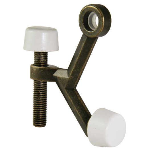 Ultra Hardware 3 In. Antique Brass Hinge Pin Door Stop