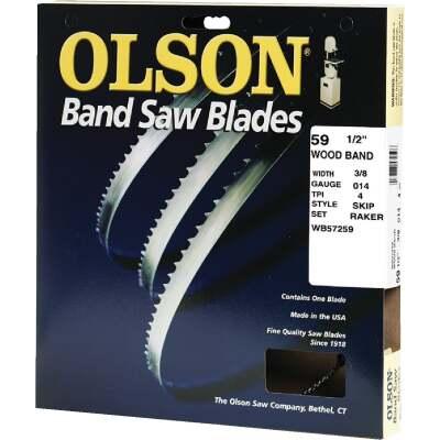 Olson 59-1/2 In. x 3/8 In. 4 TPI Skip Wood Cutting Band Saw Blade