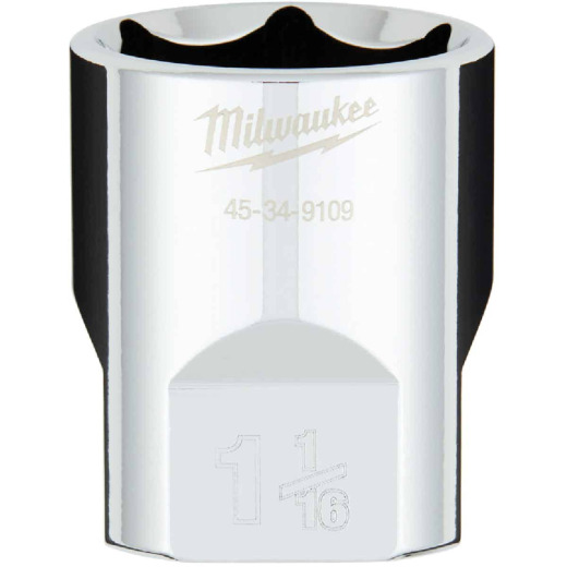 Milwaukee 1/2 In. Drive 1-1/16 In. 6-Point Shallow Standard Socket with FOUR FLAT Sides