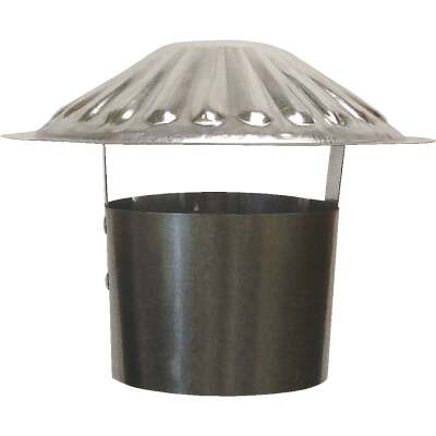 S & K Galvanized Steel 4 In. x 6-3/4 In. Vent Pipe Cap