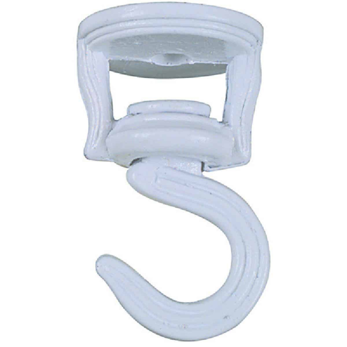 National 2 In. White Die Cast Swivel Swag Hook (2-Pack) Image 2