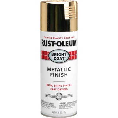 Rust-Oleum Bright Coat Gold Metallic Gloss 11 Oz. Anti-Rust Spray Paint