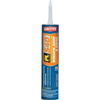 Loctite PL S40 10 Oz. Polyurethane Window, Door, & Siding Sealant, White