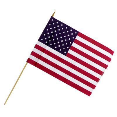 Valley Forge 12 In. x 18 In. Polycotton Stick American Flag