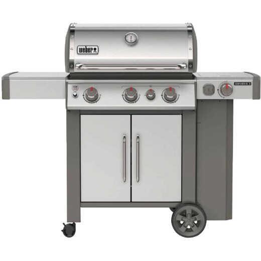 Weber Genesis II S-335 3-Burner Stainless Steel 39,000 BTU LP Gas Grill with 12,000 BTU Side -Burner